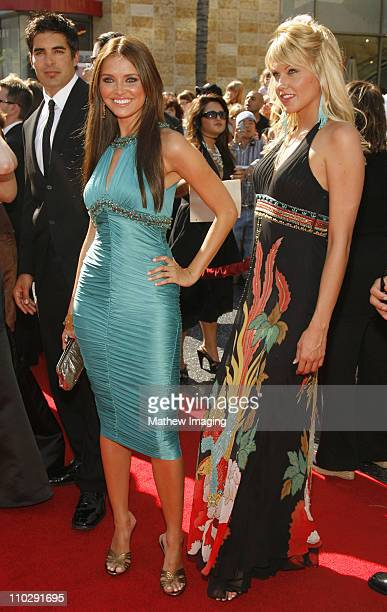 Heidi Mueller and Emily Harper during 34th Annual Daytime Emmy Awards Red Carpet at Kodak Theatre in Hollywood California United States
