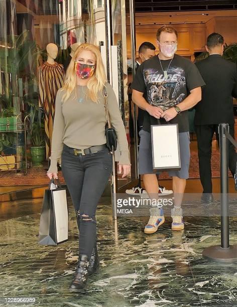 Heidi Pratt and Spencer Pratt seen in Los Angeles on October 8, 2020 in Los Angeles, California.