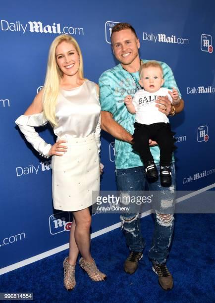 Heidi Pratt Spencer Pratt and son Gunner Pratt attend the DailyMailcom DailyMailTV Summer Party at Tom Tom on July 11 2018 in West Hollywood...