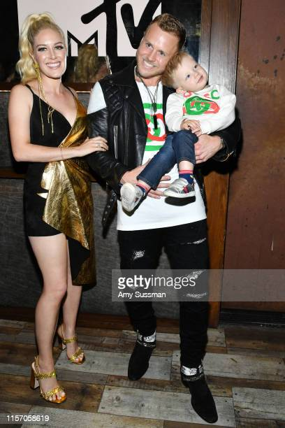 Heidi Pratt Spencer Pratt and their son Connor attend the party for the premiere of MTV's The Hills New Beginnings at Liaison on June 19 2019 in Los...