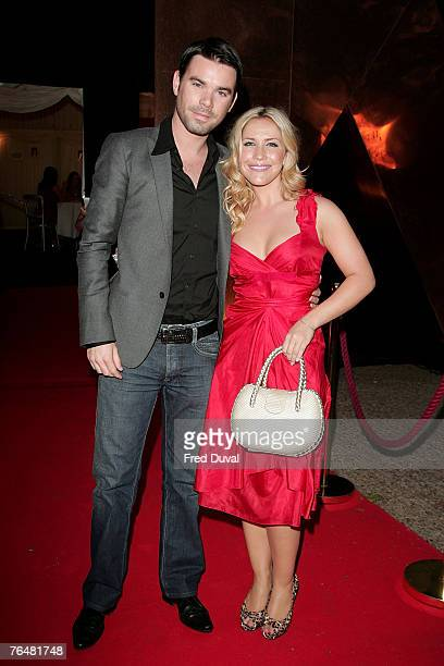 Heidi Range and Dave Berry arrive at Hell's Kitchen at the 3 Mills Studio on September 2 2007 in London England