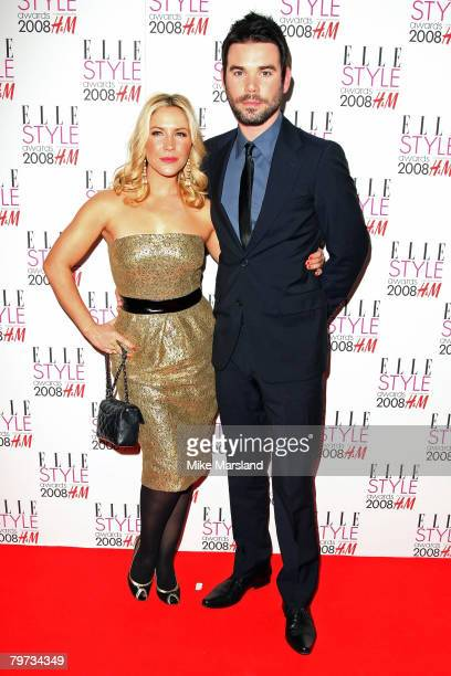 Heidi Range and Dave Berry arrive at the Elle Style Awards 2008 at The Westway on February 12 2008 in London England