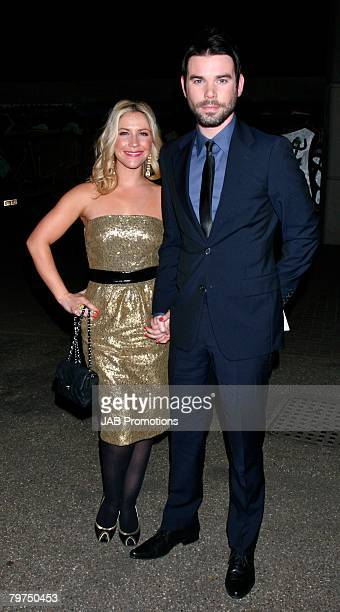 Heidi Range and Dave Berry arrives at the Elle Style Awards 2008 Audi Arrivals at The Westway on February 12 2008 in London England