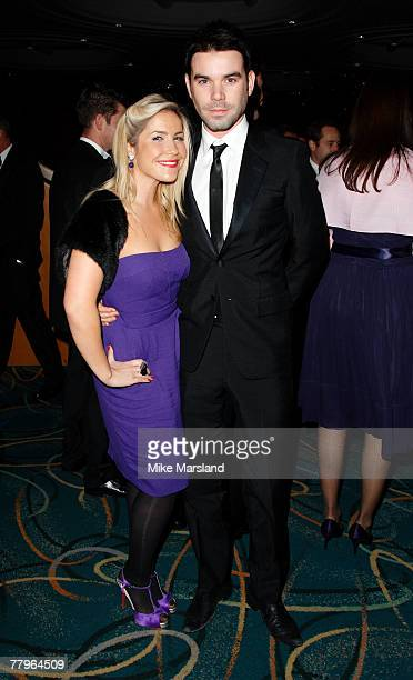Heidi Range and Dave Berry attend the blacktie ball in aid of Cancer Research UK at Hilton London Metropole November 17 2007 in London England