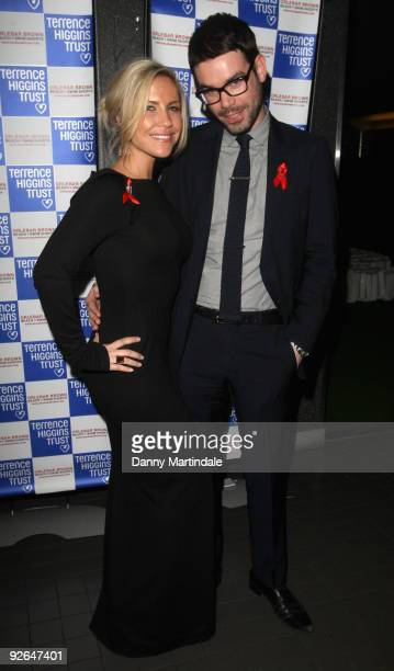 Heidi Range and Dave Berry attends the Terrence Higgins Trust Supper Club at Floridita on November 3 2009 in London England