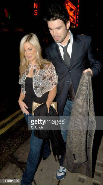 Heidi Range and Dave Berry during Heidi Range Sighting At The Ivy Restaurant February 25 2005 at Ivy Restaurant in London Great Britain