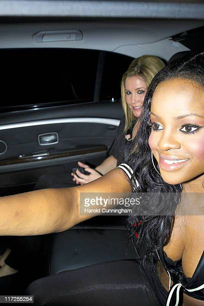 Heidi Range and Keisha Buchanan during Sugababes in Concert October 29 2006 Arrivals at Dominion Theatre in London Great Britain