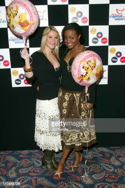 Heidi Range and Keisha Buchanan of the Sugababes during The 2005 958 Capital FM Awards Inside Arrivals at Royal Lancaster Hotel in London Great...