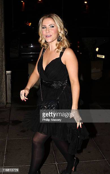 Heidi Range arrives at the Late Late Toy Show special in the RTE Studios on November 30 2007 in Dublin Ireland