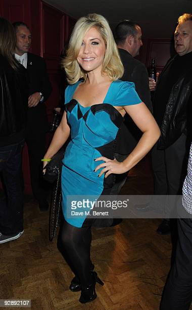 Heidi Range attends the launch of Liam Gallaghers clothing line Pretty Green at the Gore Hotel on November 7 2009 in London England