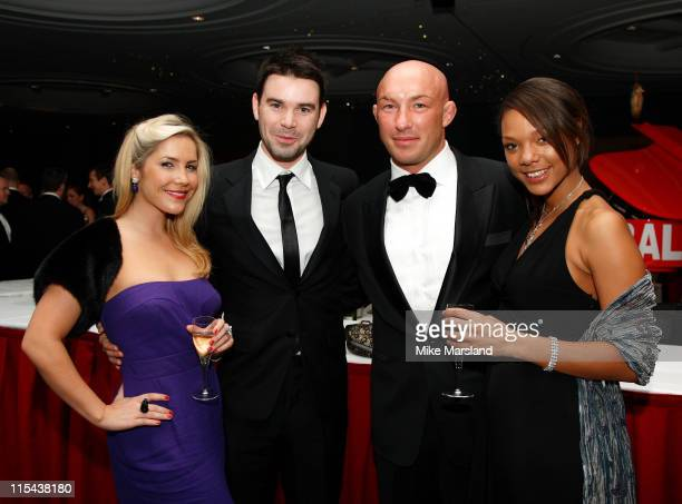 Heidi Range Dave BerryPhil Greening and guest attend the blacktie ball in aid of Cancer Research UK at Hilton London Metropole November 17 2007 in...