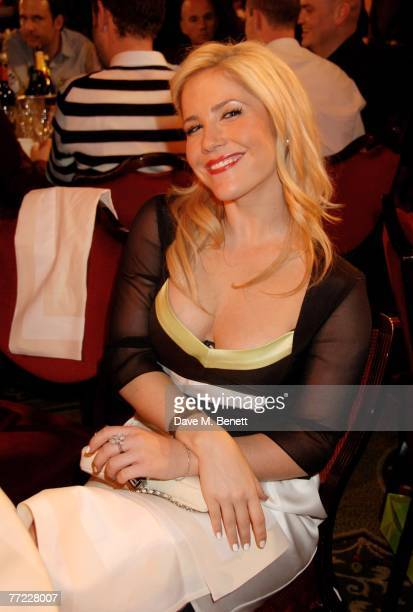 Heidi Range of Sugababes attends the after party following the Q Awards at the Grosvenor House Hotel on October 8 2007 in London England