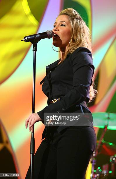 Heidi Range of Sugababes during Cherrios Childline Concert January 28 2007 at The Point in Dublin Ireland