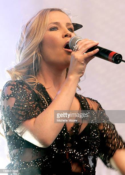 Heidi Range of Sugababes during Sugababes Perform at the 2006 Twenty20 Cup Finals Day August 12 2006 at Trent Bridge Cricket Club in Nottingham Great...