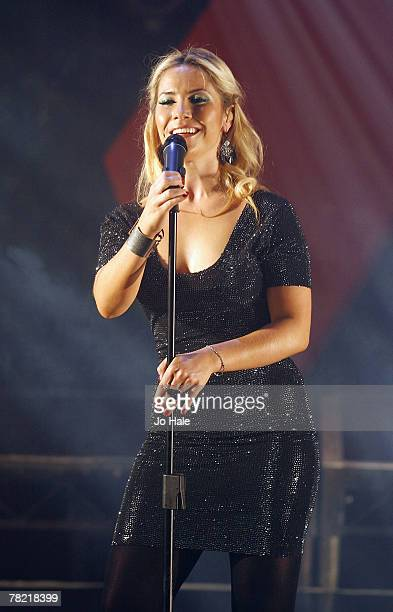 Heidi Range of Sugababes performs on stage at the GAY 15th Anniversary At The London Astoria on December 012007 in LondonEngland