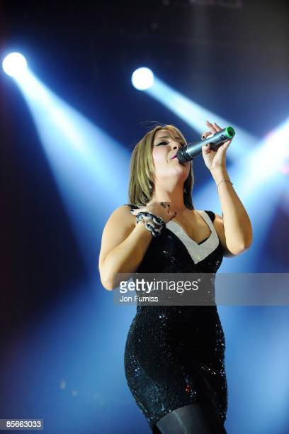 ACCESS *** Heidi Range of Sugababes performs on stage during the Capital FM Jingle Bell Ball held at the 02 Arena in Docklands on December 10 2008 in...