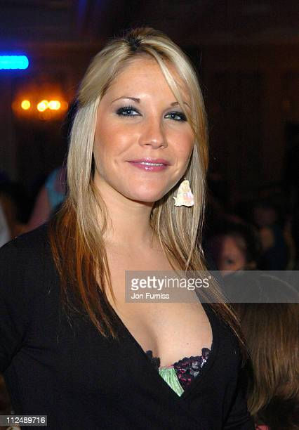 Heidi Range of The Sugababes during The 2005 958 Capital FM Awards Show and Awards at The Royal Lancaster Hotel in London United Kingdom