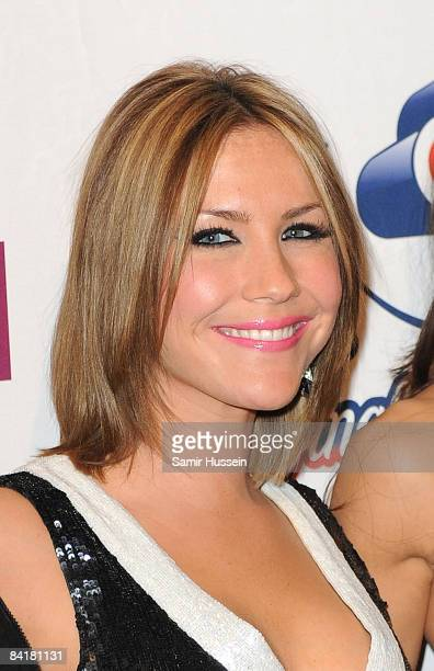 Heidi Range of the Sugababes poses at The Jingle Bell Ball at the O2 Arena on December 10 2008 in London England