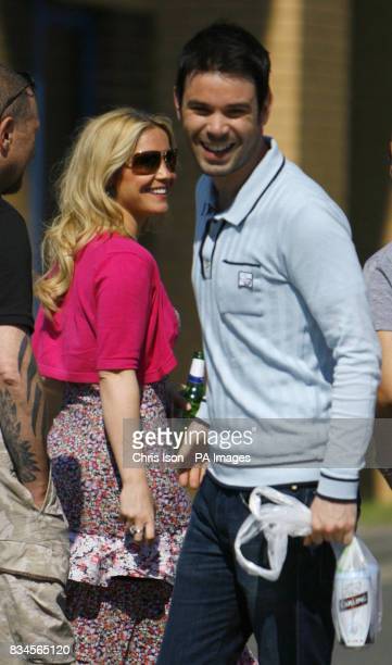 Heidi Range of The Sugababes with her boyfriend Dave Berry at the Isle of Wight Festival 2008 at Seaclose Park on the Isle of Wight