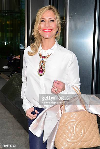 Heidi Range sighted in Canary Wharf on September 11 2013 in London England