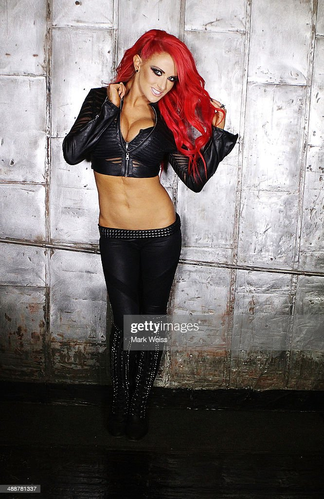 Heidi Shepherd of the Butcher Babies backstage at The Electric Factory on May 7, 2014 in Philadelphia, Pennsylvania.