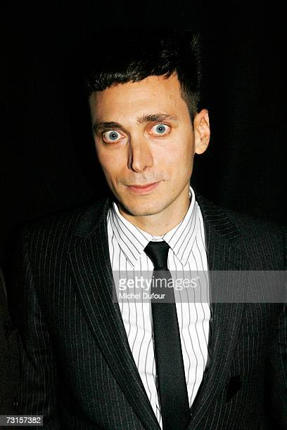 Heidi Slimane attends the Dior Men Fashion Show Autumn Winter 07 08 on January 30 2007 in Paris France