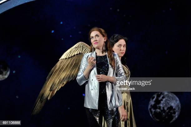 Heidi Stober as Semele and Christine Rice as Juno in Garsington Opera's production of Georg Frideric Handel's Semele directed by Annilese Misklimmon...