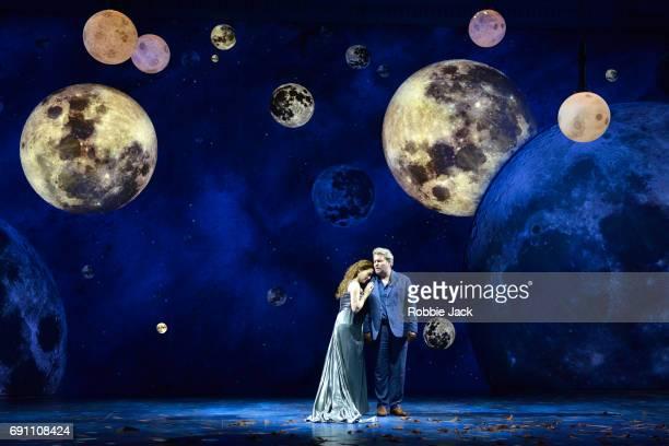 Heidi Stober as Semele and Robert Murray as Jupiter in Garsington Opera's production of Georg Frideric Handel's Semele directed by Annilese...