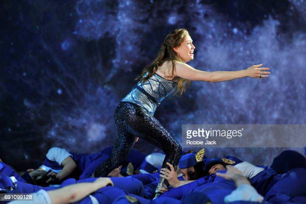Heidi Stober as Semele in Garsington Opera's production of Georg Frideric Handel's Semele directed by Annilese Misklimmon and conducted by Jonathan...