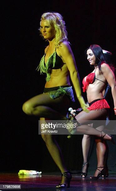 Heidi Strobel and Catherine Chiarelli during Reality Revue Burlesque Show August 7 2004 at Xanadu Showroom Trump Taj Majal in Atlantic City New...