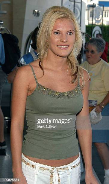 Heidi Strobel from Survivor during Television Critics Association CBS Arrivals Day One at Renaissance Hotel in Hollywood California United States