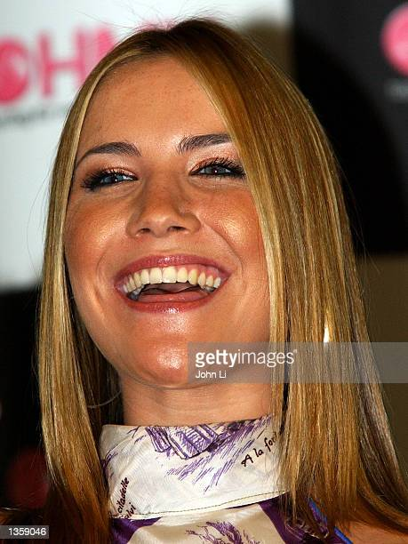 Heidi the newest member of music group Sugababes smiles as she attends a music event at HMV Oxford Street August 29 2002 in London England The...