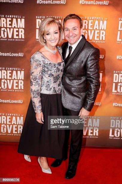Heidi Victoria and Angelo Phillipou attends opening night of Dream Lover The Bobby Darin Musical at Melbourne Arts Centre on December 31 2017 in...
