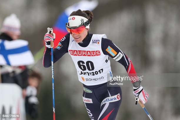 Heidi Weng competes during the women cross country 10 km individual classic competition of the 2017 FIS Nordic World Ski Championships in Lahti...