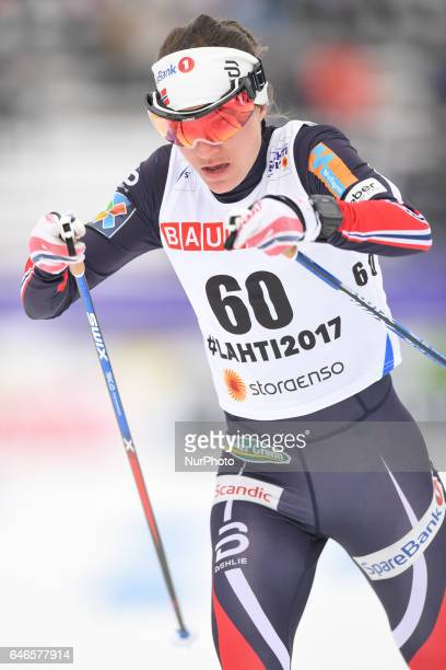 Heidi Weng from Norway during Ladies crosscountry 100km Individual Classic final at FIS Nordic World Ski Championship 2017 in Lahti On Tuesday...