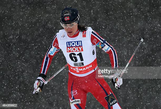Heidi Weng of Norway competes during the Women's 10km CrossCountry during the FIS Nordic World Ski Championships at the Lugnet venue on February 24...