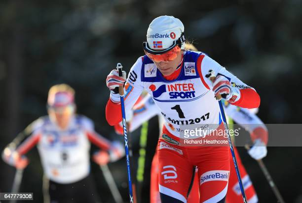 Heidi Weng of Norway competes in the Women's Cross Country Mass Start during the FIS Nordic World Ski Championships on March 4 2017 in Lahti Finland