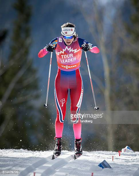 Heidi Weng of Norway during Cross Country Ladies 15 km Sprint Classic on March 08 2016 in Canmore Canada