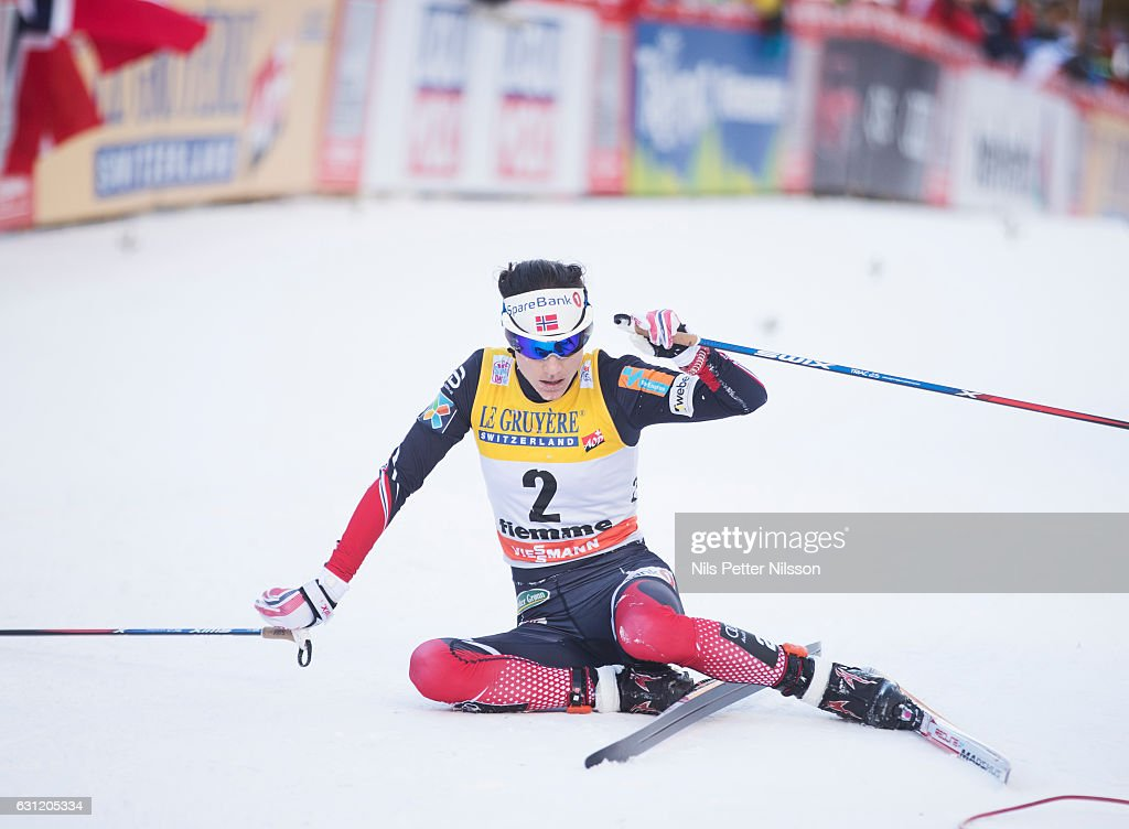 Heidi Weng of Norway during the women's 9 km F Pursuit on January 8, 2017 in Val di Fiemme, Italy.