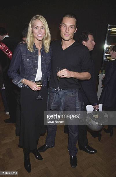 Heidi Wichlinski and Seb Bishop at the CLIC Charity Auction hosted by Eddie and Marie Jordan at Christie's on 22nd October 2001 in London