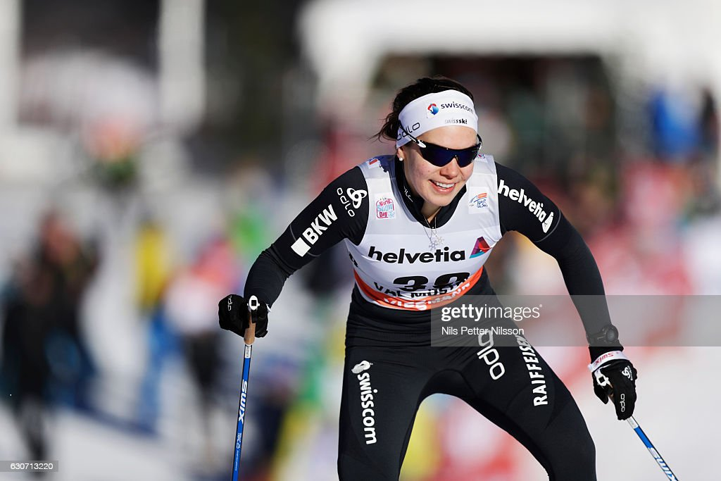 Heidi Widmer of Switzerland competes during the women's Sprint F race on December 31, 2016 in Val Mustair, Switzerland.