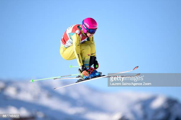 Heidi Zacher of Germany during the FIS Freestyle Ski World Cup, Men's and Women's Ski Cross on December 7, 2017 in Val Thorens, France.