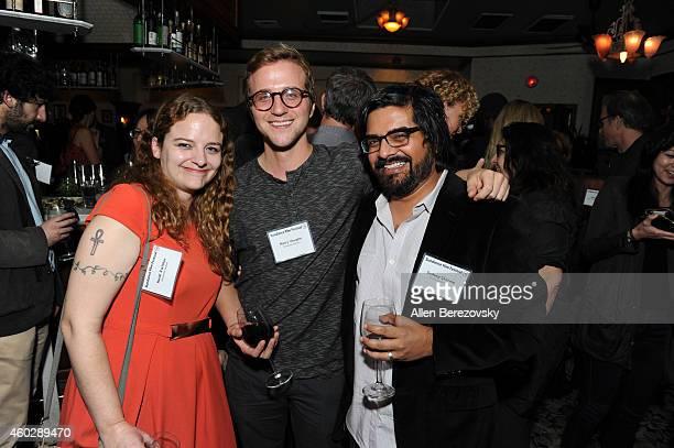 Heidi Zwicker, Harry Vaughn and Sudeep Sharma attend a Sundance Institute Alumni Reception at Harlowe on December 10, 2014 in West Hollywood,...