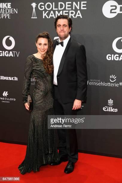 Heidrun Buchmaier and Bastian Pastewka arrive for the Goldene Kamera on March 4 2017 in Hamburg Germany