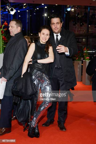 Heidrun Buchmaier and Bastian Pastewka attend 'The Grand Budapest Hotel' Premiere and opening ceremony during the 64th Berlinale International Film...