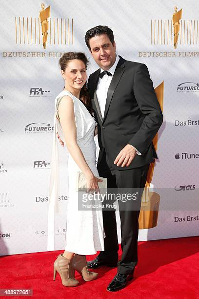 Heidrun Buchmaier and Bastian Pastewka attend the Lola - German Film Award 2014 at Tempodrom on May 09, 2014 in Berlin, Germany.