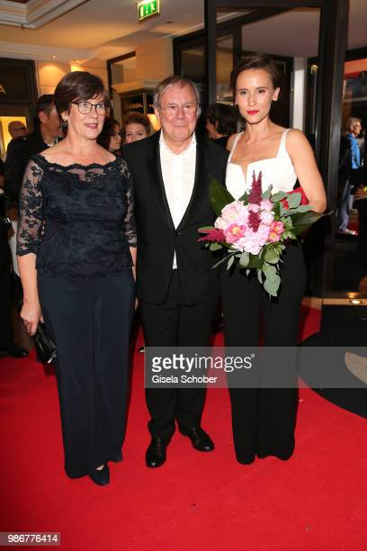Heidrun Teusner Krol and Joachim Krol and Peri Baumeister during the opening night of the Munich Film Festival 2018 reception at Hotel Bayerischer...