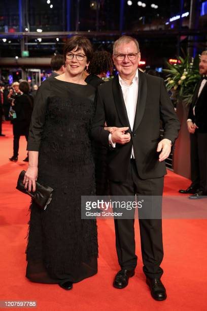 Heidrun Teusner Krol and Joachim Krol arrive for the opening ceremony and My Salinger Year premiere during the 70th Berlinale International Film...