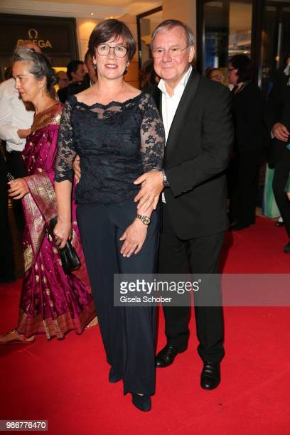 Heidrun Teusner Krol and Joachim Krol during the opening night of the Munich Film Festival 2018 reception at Hotel Bayerischer Hof on June 28 2018 in...