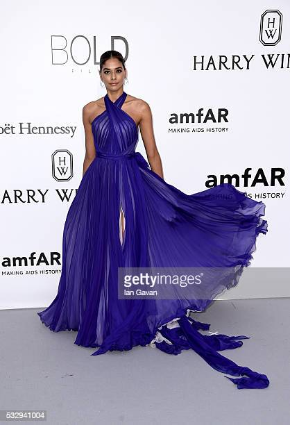 Heidy De la Rosa arrives at amfAR's 23rd Cinema Against AIDS Gala at Hotel du CapEdenRoc on May 19 2016 in Cap d'Antibes France